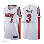 Barn Basketball Drakter Miami Heat 2018 Dwyane Wade 3# Association Edition Swingman..