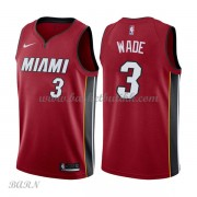 Barn Basketball Drakter Miami Heat 2018 Dwyane Wade 3# Statement Edition Swingman..