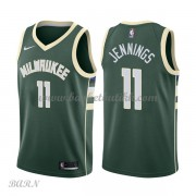 Barn Basketball Drakter Milwaukee Bucks 2018 Brandon Jennings 11# Icon Edition Swingman..