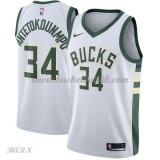 Barn Basketball Drakter Milwaukee Bucks 2018 Giannis Antetokounmpo 34# Association Edition Swingman