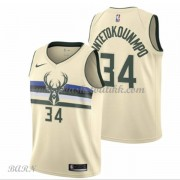 Barn Basketball Drakter Milwaukee Bucks 2018 Giannis Antetokounmpo 34# City Edition Swingman..