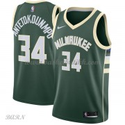 Barn Basketball Drakter Milwaukee Bucks 2018 Giannis Antetokounmpo 34# Icon Edition Swingman..