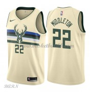 Barn Basketball Drakter Milwaukee Bucks 2018 Khris Middleton 22# City Edition Swingman..