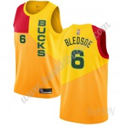 Barn Basketball Drakter Milwaukee Bucks 2019-20 Eric Bledsoe 6# Gul City Edition Swingman Drakt..
