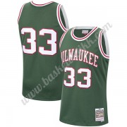 Milwaukee Bucks NBA Basketball Drakter 1970-71 Kareem Abdul-Jabbar 33# Grønn Hardwood Classics Swing..