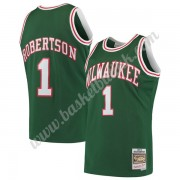 Milwaukee Bucks NBA Basketball Drakter 1971-72 Oscar Robertson 1# Grønn Hardwood Classics Swingman D..