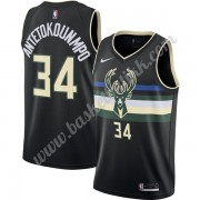 Milwaukee Bucks NBA Basketball Drakter 2019-20 Giannis Antetokounmpo 34# Svart Finished Statement Ed..