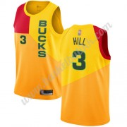 Milwaukee Bucks NBA Basketball Drakter 2019-20 George Hill 3# Gul City Edition Swingman Drakt..