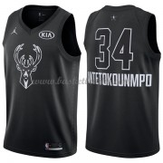 Milwaukee Bucks Giannis Antetokounmpo 34# Black 2018 All Star Game NBA Basketball Drakter..