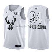 Milwaukee Bucks Giannis Antetokounmpo 34# Hvit 2018 All Star Game NBA Basketball Drakter..