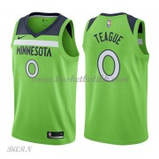 Barn Basketball Drakter Minnesota Timberwolves 2018 Jeff Teague 0# Statement Edition Swingman..