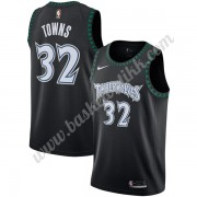 Minnesota Timberwolves NBA Basketball Drakter 2019-20 Karl-Anthony Towns 32# Svart Hardwood Classics..