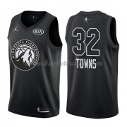 Minnesota Timberwolves Karl-Anthony Towns 32# Black 2018 All Star Game NBA Basketball Drakter..