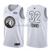 Minnesota Timberwolves Karl-Anthony Towns 32# Hvit 2018 All Star Game NBA Basketball Drakter..