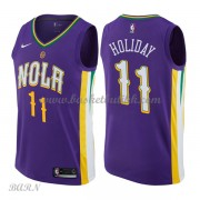 Barn Basketball Drakter New Orleans Pelicans 2018 Jrue Holiday 11# City Edition Swingman..