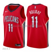 Barn Basketball Drakter New Orleans Pelicans 2018 Jrue Holiday 11# Statement Edition Swingman..