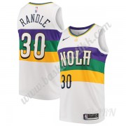 Barn Basketball Drakter New Orleans Pelicans 2019-20 Julius Randle 30# Hvit City Edition Swingman Dr..