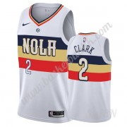 Barn Basketball Drakter New Orleans Pelicans 2019-20 Ian Clark 2# Hvit Earned Edition Swingman Drakt..
