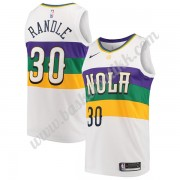 New Orleans Pelicans NBA Basketball Drakter 2019-20 Julius Randle 30# Hvit City Edition Swingman Dra..