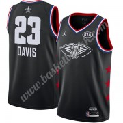 New Orleans Pelicans 2019 Anthony Davis 23# Svart Finished All-Star Game NBA Basketball Drakter Swin..
