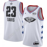 New Orleans Pelicans 2019 Anthony Davis 23# Hvit Finished All-Star Game NBA Basketball Drakter Swing..