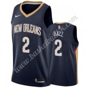 New Orleans Pelicans NBA Basketball Drakter 2019-20 Lonzo Ball 2# Marinen Icon Edition Swingman Drak..