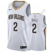 New Orleans Pelicans NBA Basketball Drakter 2019-20 Lonzo Ball 2# Hvit Association Edition Swingman ..