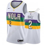 New Orleans Pelicans NBA Basketball Drakter 2019-20 Lonzo Ball 2# Hvit City Edition Swingman Drakt..