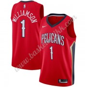 New Orleans Pelicans NBA Basketball Drakter 2019-20 Zion Williamson 1# Rød Statement Edition Swingma..