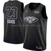 New Orleans Pelicans Anthony Davis 23# Black 2018 All Star Game NBA Basketball Drakter..