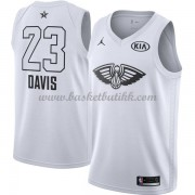 New Orleans Pelicans Anthony Davis 23# Hvit 2018 All Star Game NBA Basketball Drakter..
