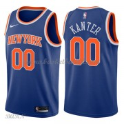 Barn Basketball Drakter New York Knicks 2018 Enes Kanter 0# Icon Edition Swingman..