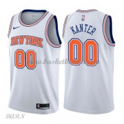 Barn Basketball Drakter New York Knicks 2018 Enes Kanter 0# Statement Edition Swingman..