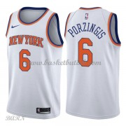 Barn Basketball Drakter New York Knicks 2018 Kristaps Porzingis 6# Association Edition Swingman..
