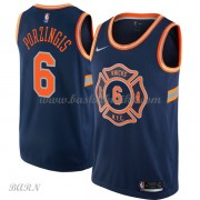 Barn Basketball Drakter New York Knicks 2018 Kristaps Porzingis 6# City Edition Swingman..