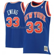 New York Knicks Mens 1991-92 Patrick Ewing 33# Blue Hardwood Classics..