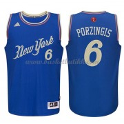 New York Knicks Basketball Drakter 2015 Kristaps Porzingis 6# NBA Julen Drakt..