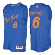 New York Knicks Basketball Drakter 2016 Kristaps Porzingis 6# NBA Julen Drakt..