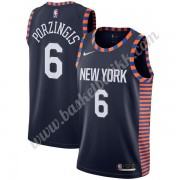 New York Knicks NBA Basketball Drakter 2019-20 Kristaps Porzingis 6# Marinen City Edition Swingman D..