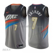 Barn Basketball Drakter Oklahoma City Thunder 2018 Carmelo Anthony 7# City Edition Swingman..