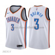 Barn Basketball Drakter Oklahoma City Thunder 2018 Corey Brewer 3# Association Edition Swingman..