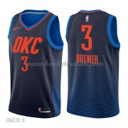 Barn Basketball Drakter Oklahoma City Thunder 2018 Corey Brewer 3# Statement Edition Swingman..