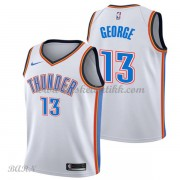Barn Basketball Drakter Oklahoma City Thunder 2018 Paul George 13# Association Edition Swingman..
