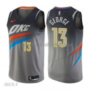 Barn Basketball Drakter Oklahoma City Thunder 2018 Paul George 13# City Edition Swingman..