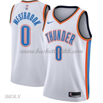 Barn Basketball Drakter Oklahoma City Thunder 2018 Russell Westbrook 0# Association Edition Swingman