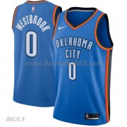 Barn Basketball Drakter Oklahoma City Thunder 2018 Russell Westbrook 0# Icon Edition Swingman..