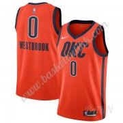 Barn Basketball Drakter Oklahoma City Thunder 2019-20 Russell Westbrook 0# Oransje Earned Edition Sw..