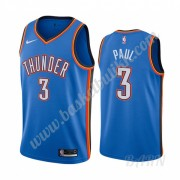 Barn Basketball Drakter Oklahoma City Thunder 2019-20 Chris Paul 3# Blå Icon City Edition Swingman D..