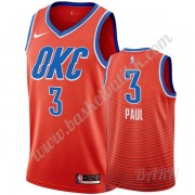 Barn Basketball Drakter Oklahoma City Thunder 2019-20 Chris Paul 3# Oransje Statement Edition Swingm..