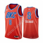 Barn Basketball Drakter Oklahoma City Thunder 2019-20 Danilo Gallinari 8# Oransje Statement Edition ..